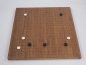Preview: Bamboo Board , 19x19/13x13, 20mm, dark with cuttet Lines