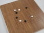 Preview: Bamboo Board , 19x19/13x13, 20mm, dark with cuttet Lines (2nd quality)