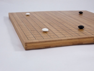 Bamboo Folding Board, 19x19, 20mm, dark with printed Lines