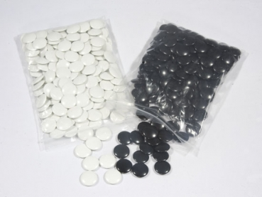 Plastic Stones, 21,5 x 6 mm, in a bag