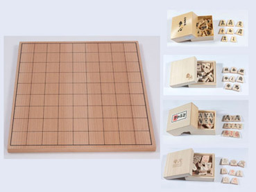 Shogi-Set, with Veneered Board