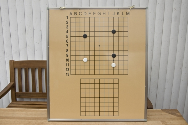 Go Demo Set, Solid Board and Double-sided Stones
