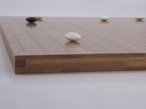 Bamboo Board, 19x19/13x13, 20mm, dark with printed Lines