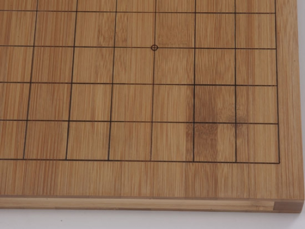 Bamboo Board , 19x19/13x13, 20mm, dark with cuttet Lines