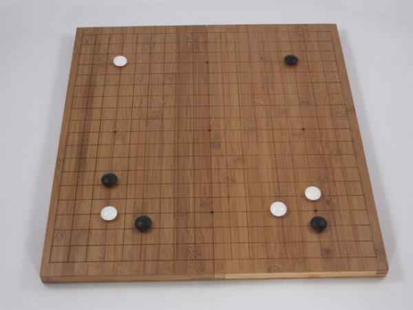 Bamboo Folding Board, 19x19, 20mm, dark with cuttet Lines