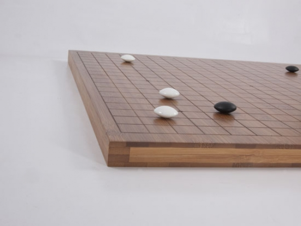 Bamboo Board , 19x19/13x13, 20mm, dark with cuttet Lines (2nd quality)